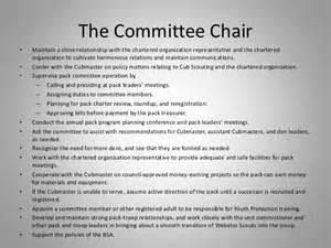 chair of committee responsibilities leadership flow chart