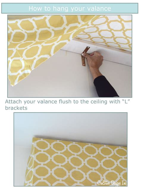 How To Make A Tailored Valance how to make a tailored valance cre8tive designs inc