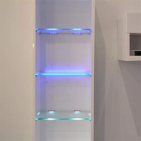 led cabinet lighting led cabinet ambiance lights kit for glass edge shelf