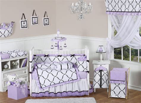 white nursery bedding sets jojo discount luxury boutique black white and purple baby crib bedding set ebay