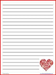 valentines day writing paper s day lined writing paper 10 colorful sheets