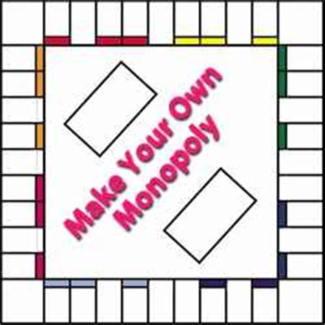 make your own card template blank 6 best images of printable monopoly board and cards