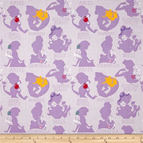 Home Decor Sewing Patterns Disney Princess Cameo Purple Discount Designer Fabric