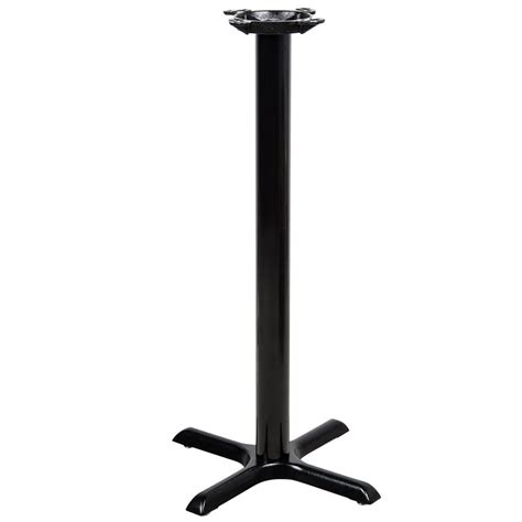 high top bar table bases lancaster table seating 22 quot x 22 quot x 41 quot black metal