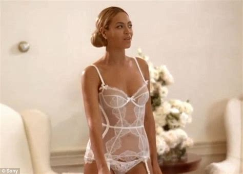 Honeymoon Sleepwear Beyonc 233 In Bridal Lingerie For Romantic New Best Thing I Never Had Video Daily Mail Online