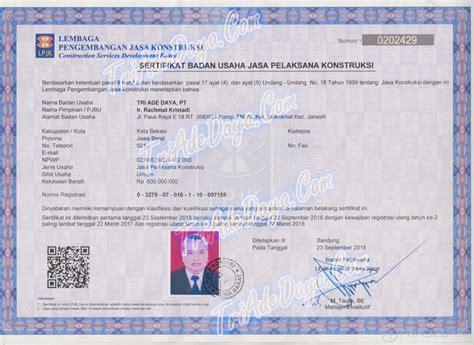 Jasa Pembuatan Sertifikat 1 info contractor triadedaya