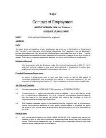 Basic Contract Of Employment Template by Free Printable Employment Contract Sle Form Generic