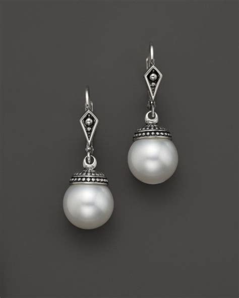 lagos sterling silver freshwater cultured pearl drop