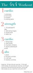 printable workout the 4x4 workout for cardio strength
