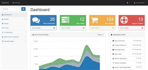 bootstrap templates for inventory management 20 free bootstrap admin dashboard templates