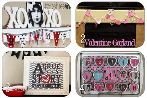 valentine home decor valentines day crafts decor round up