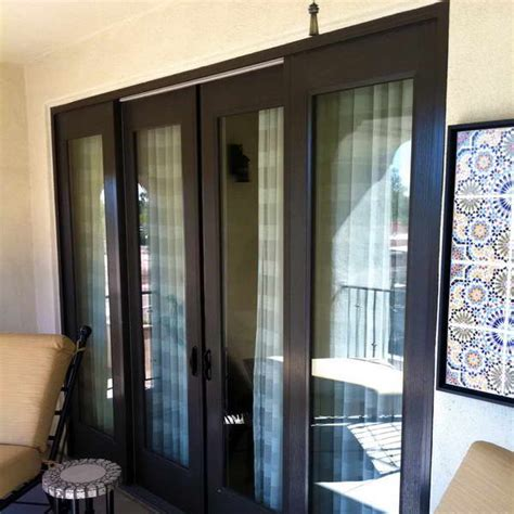bloombety pella sliding patio doors with table