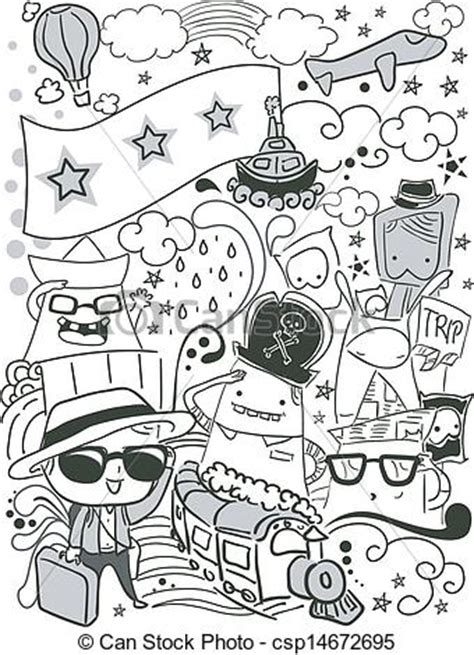 doodle sketch free vector eps vectors of doodle travel illustration of a doodle