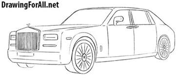 Rolls Royce Drawing How To Draw A Rolls Royce Phantom Drawingforall Net