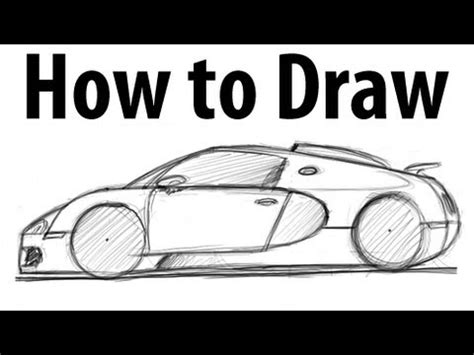 How to draw a Bugatti Veyron   Sketch it quick!   YouTube