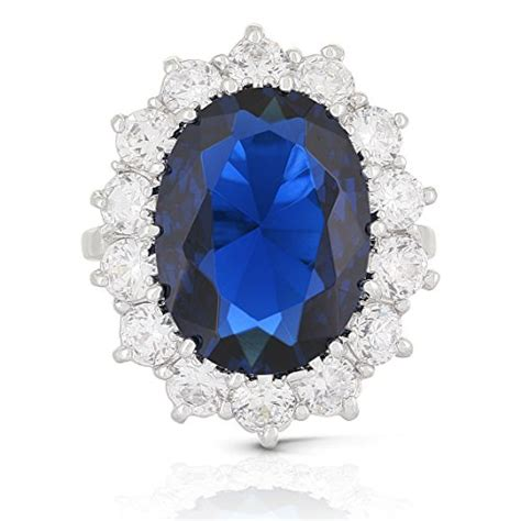 Blue Sapphire Similiar To Royal jankuo jewelry jankuo jewelry royal family large kate middleton engagement inspired ring with