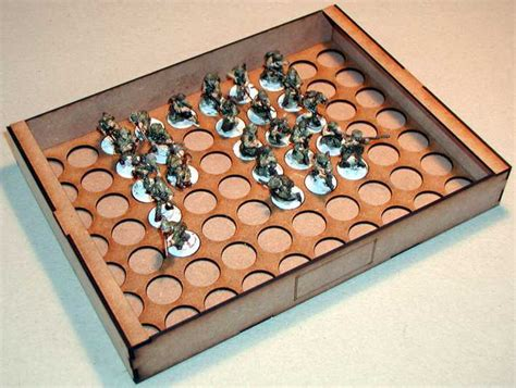 Cake Cases 70mm Base 30mm Bunga wargames figure chest insert 30mm slots x 35 sally 4th