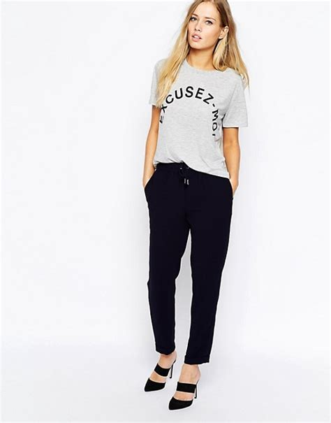whistles whistles helena trousers in crepe