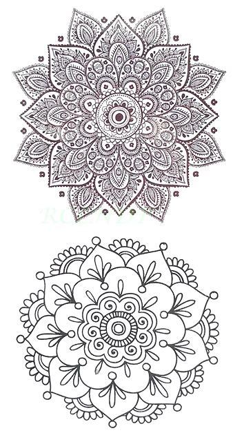 mandala tattoo transfer waterproof temporary tattoo sticker sexy lotus mandala