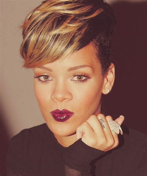 rihanna hairstyle ideas thehairstyler com 1000 ideas about rihanna short haircut on pinterest