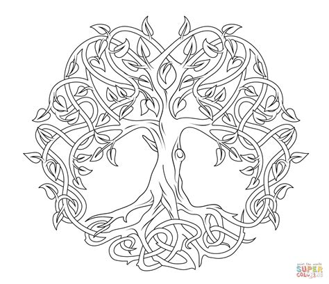 celtic coloring pages celtic tree of coloring page free printable