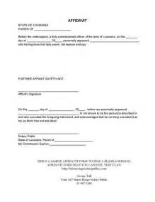 Template For An Affidavit by Blank Louisiana Affidavit Baton Notary Publics