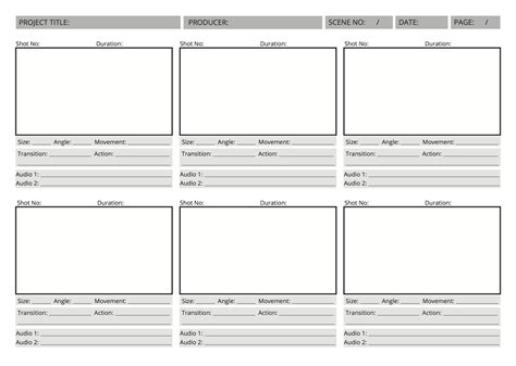 video storyboard template images