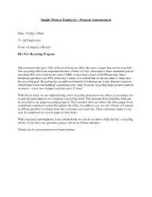 Memorandum letter employee and sample memorandum letter employee