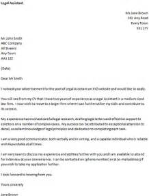 Cover Letter For A Legal Assistant Icover Org Uk