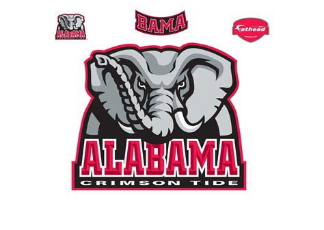 alabama crimson tide realtree logo wall decal shop alabama crimson tide logo wall decal shop fathead 174 for