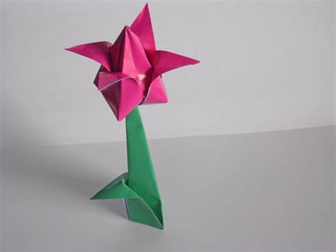 origami tulip flower www imgkid the