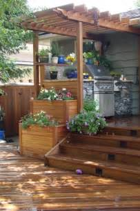 Patio Smoker Exotic Decking Fencing Stairs Planter Boxes And