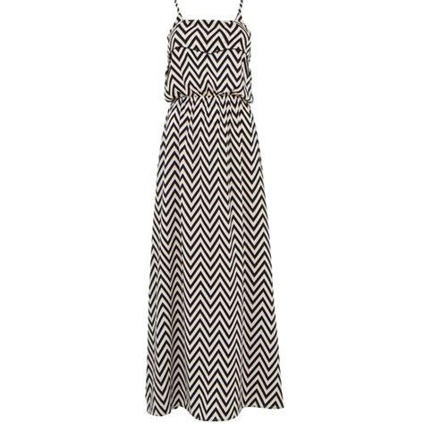 black and white zig zag maxi dress polyvore