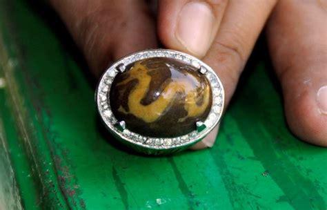 Batu Cincin Bermotif tipe dan khasiat umum batu akik borneo bermotif