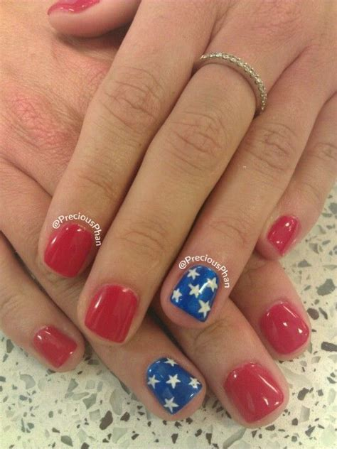 pedicure colors to the stars 4th if july stars red and blue nails precious phan