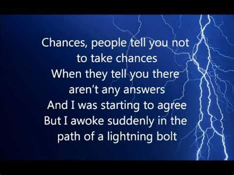 Lighting Strikes Lyrics by What S A Song That Mentions The Word Thunder Or