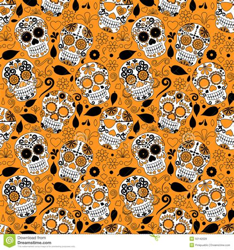imagenes de fondo dia de muertos masculino day of the dead sugar skull seamless vector background