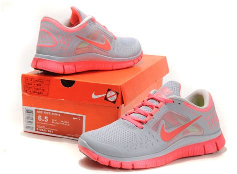nike free run 3 womens running shoes gray pink 510643 026