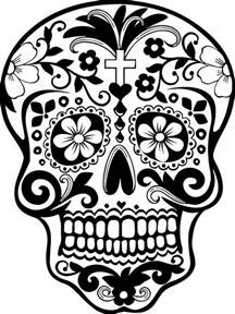 day of the dead skull template sugar skull wall vinyl decal sticker graphic sticker