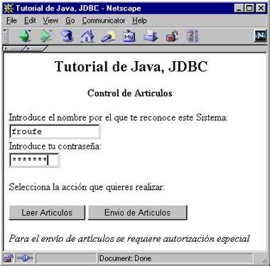 tutorial java oracle jdbc tutorial de java jdbc y servlets