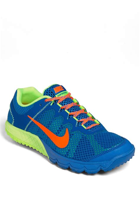 best nike trail running shoes nike zoom wildhorse trail running shoe in blue for