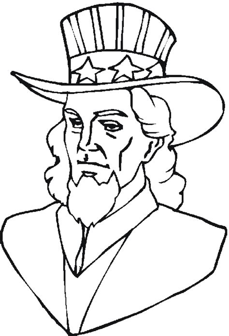 coloring page uncle sam free patriotic coloring pages from sherriallen com