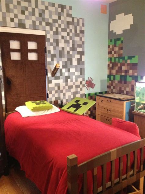 awesome minecraft bedrooms minecraft bedroom could do pixel walls with vinyl kid