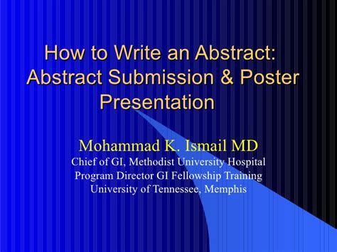 How To Make A Paper Presentation - how to write an abstract powerpoint