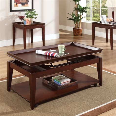 cherry wood coffee table sets steve silver clemens rectangular cherry wood lift top 3