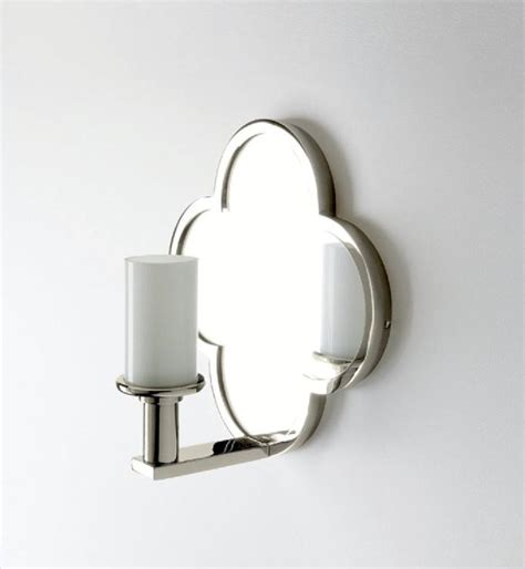Wall Mounted Sconces Wall Mounted Clover Quadrifoil Single Arm Mirror Sconce