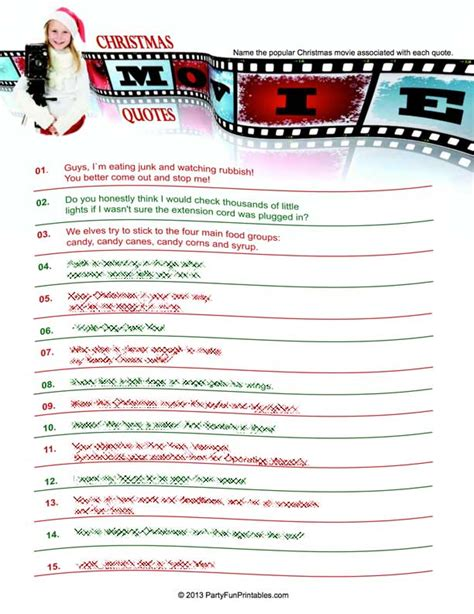 printable movie quotes quiz movie quotes quiz printable quotesgram