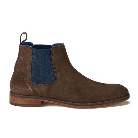 ted baker s camroon 2 suede chelsea boots brown
