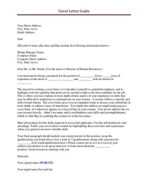 cover letter with email address cover letter guide