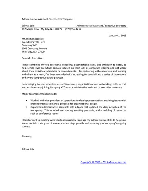 sle office assistant cover letter administrative assistant cover letter 8 28 images 8